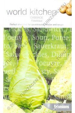 Naam:  Filderkraut    Categorie  Spits Kool    Filderkraut is een traditionele Duitse zuurkool soort. De dunne en tedere bladeren zijn gewoon perfect voor in salades. De grote puntige koppen van deze zuurkool soort kunnen wel een gewicht krijgen van 4,5 kg!!!