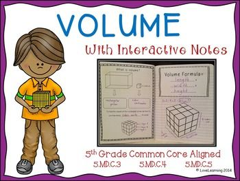 In this Volume Unit, students will:   ~learn the basic foundation of volume through hands-on activities ~discover the formula for calculating volume ~explore additive volume through a hands-on activity ~practice calculating volume in a variety of ways Common Core Aligned: 5.MD.C.3, 5.MD.C.3a, 5.MD.C.5b, 5.MD.C.3b, 5.MD.C.4, 5.MD.C.5, 5.MD.C.5a, 5.MD.C.5c