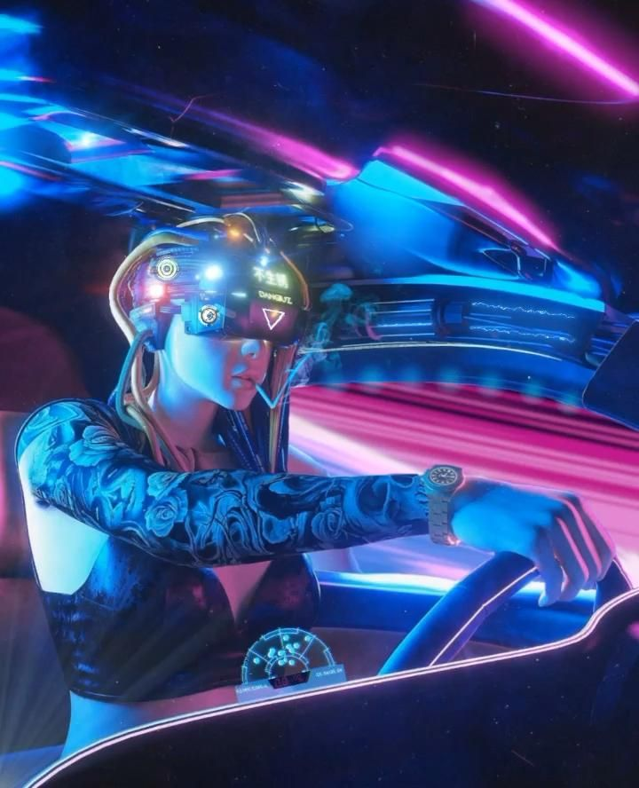 Cyberpunk driver video in 2020 character street art