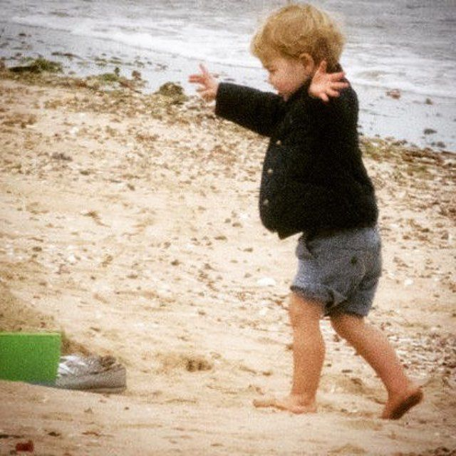 Prince George at the beach