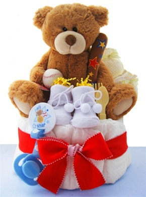 Super Star One Tier Diaper Cake from Baby Gifts and Gift Baskets #babyshower