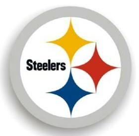 "Pittsburgh Steelers 12"" Logo Car Magnet - Team Fan Cave"