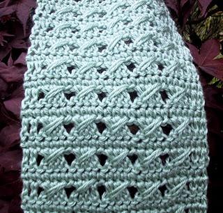 Free Crochet Slant Stitch June Scarf Pattern.