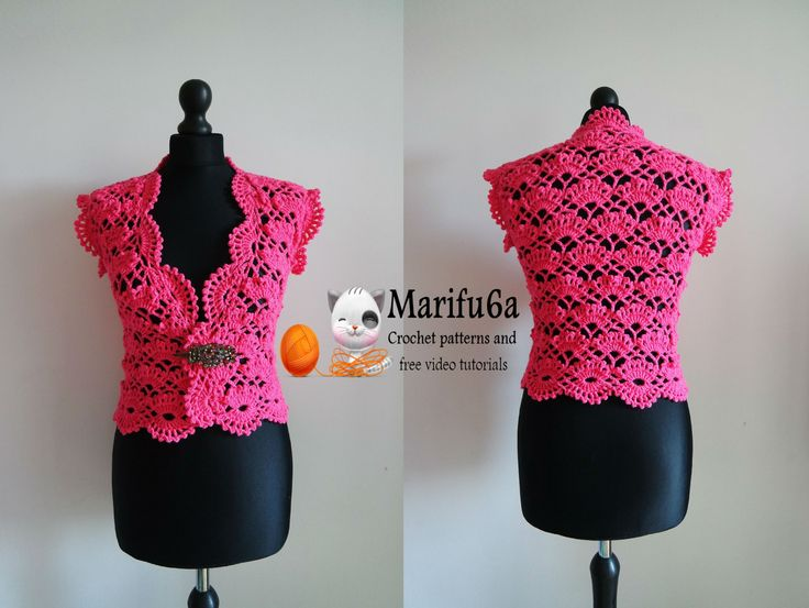 How to crochet elegant bolero shrug free tutorial pattern by marifu6a
