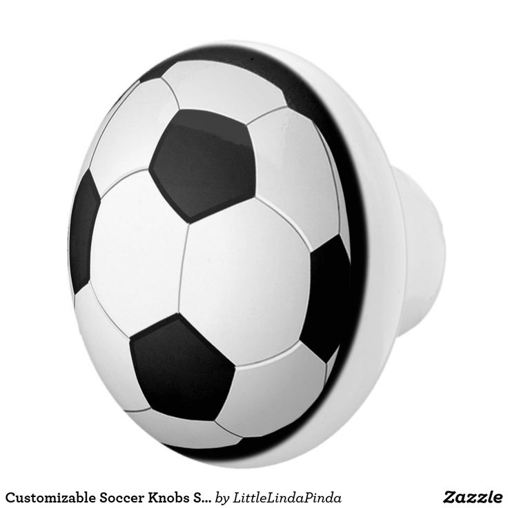Customizable Soccer Knobs Soccer Bedroom Decor HERE: https://www.zazzle.com/z/y8gbm?rf=238147997806552929  Ceramic Soccer Knobs are great ways to enhance your soccer room decor. Football knobs / Soccer knobs for boys and girls soccer room accessories or for their soccer bedroom. More HERE: http://www.zazzle.com/littlelindapinda/gifts?cg=196770565308814581&rf=238147997806552929 Change the black ring to any color. Add your text.