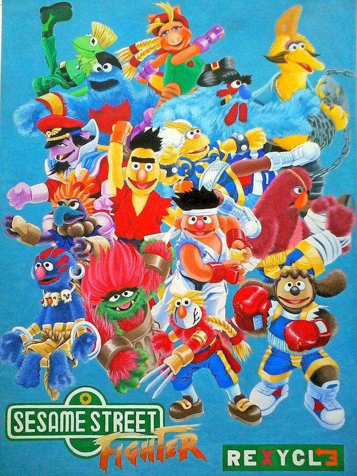 Sesame Street Fighter Alpha by Rex Abalos