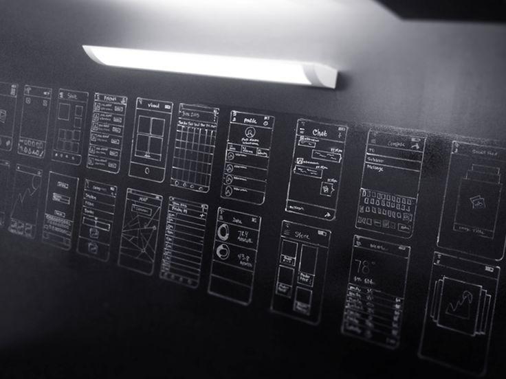 Croquis et Wireframes Black Wall par Creativedash