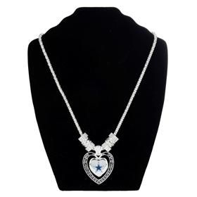Dallas Cowboys Silver Plated Heart Star Necklace | Dallas Cowboys Clothing | Dallas Cowboys Store - Dallas Cowboys Pro Shop