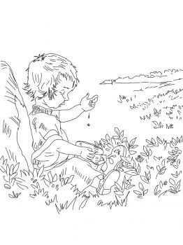Blueberries for Sal coloring page -