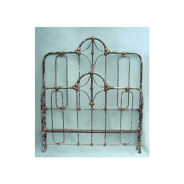 Antique Iron Beds - American Iron Bed Company - Authentic Antique Cast Iron Bed Frames found on Polyvore