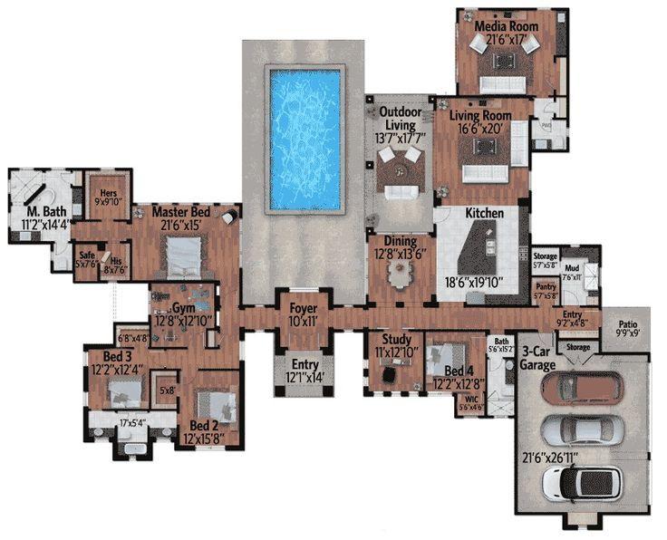 35 Best Luxurious Floor Plans Images On Pinterest Home