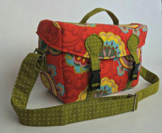 DSLR camera bag bright camera bag floral camera bag