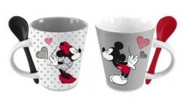 Disney Mickey & Minnie Set 2 Tazzine da Caffè - Espresso Cup Set of 2