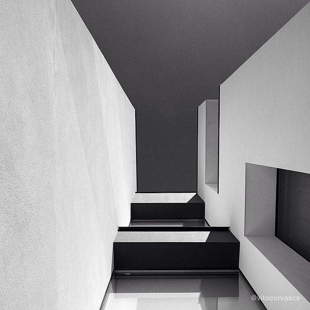 """Arki"" by our #artistoftheday @vitocorvasce #art #photographer #artist #design #architecture #lines #blackandwhite #geometry #shadow #light #urban"