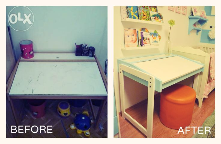 repainted and renewed drawing table
