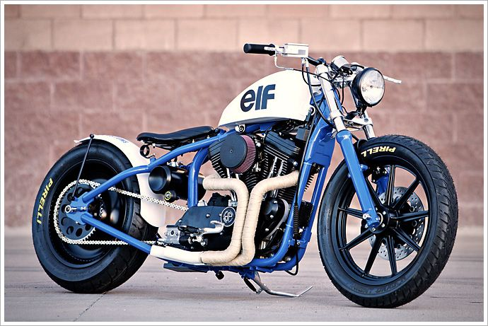 "DP Customs '95 Harley Sportster - ""del Rey"". It's based on a 1995 1200cc Evo Sportster."