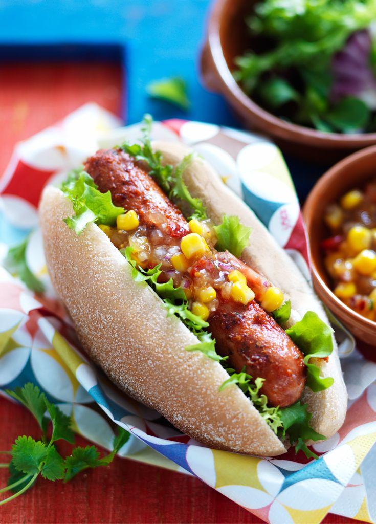 Piri Piri Hot Dog - Give your frankfurters the Piri Piri treatment.