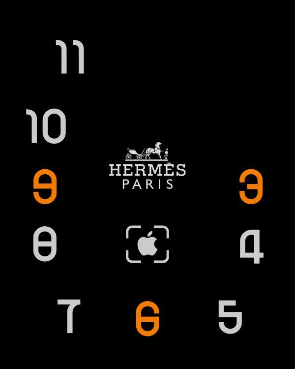 Apple Watch Face - Hermmes 2. numbers