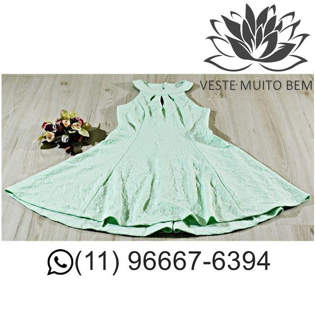Vestido Godê Jacquard R$ 9500 #vestemuitobem #moda #modafeminina #modaparameninas #estilo #roupas #lookdodia #like4like #roupasfemininas #tendência #beleza #bonita #gata #linda #elegant #elegance