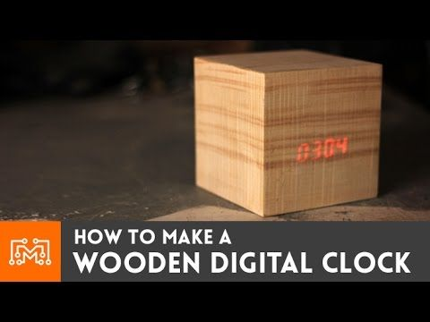 "How to make a wooden digital clock - looks like a cube from Doctor Who's ""The Power of Three"""