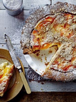 Melocotones y pastel de crema   Peaches & cream pie