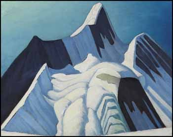 "LAWREN  HARRIS:  ""Rocky Mountain Sketch CXXI (Mount Robson),""  ca. 1929, oil on board, 12 x 15"