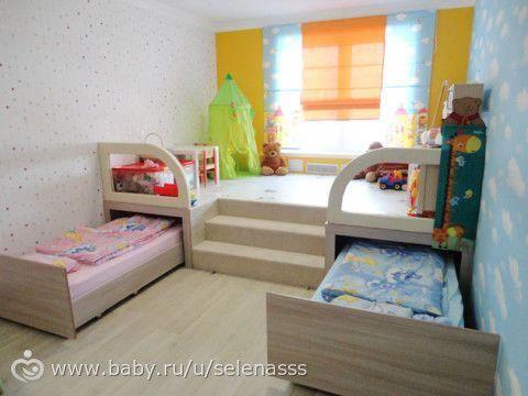 Detskie Komnaty 2 Krovati Podiumy Kidsbedroom Small Space Kids Rooms Kids Bedroom Remodel Space Kids Room
