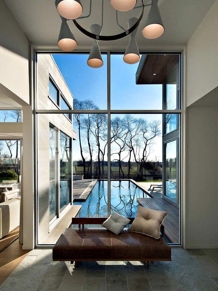 Frame the trees...East Hampton, House Design, Blaze Makoid, The View, Glasses Wall, Interiors Design, Makoid Architecture, Modern Interiors, Windows View