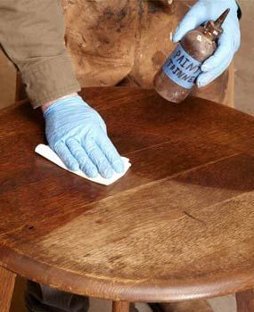How to refinish furniture without stripping.