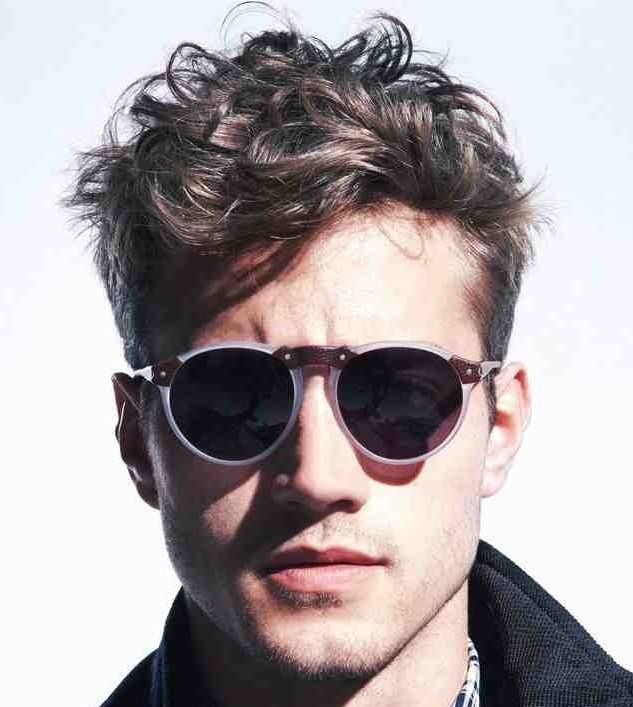 #Sunglasses | Wavy hair men, Square face hairstyles, Mens hairstyles