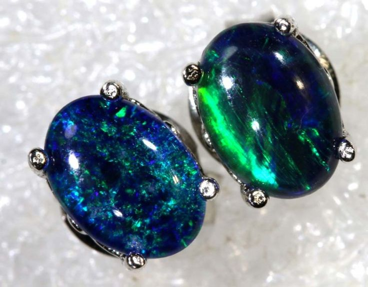 6.8 CTS TRIPLET OPAL SILVER EARRINGS OF-2147