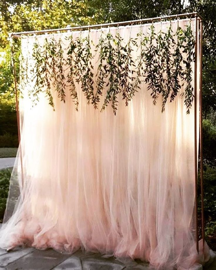 romantic outdoor backyard wedding backdrop