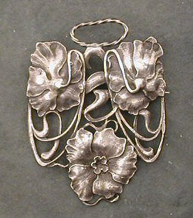 Art Nouveau - sterling brooch