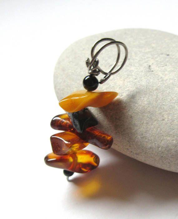 Niobium Pendants Multi Color Baltic Amber Pendant Hypo