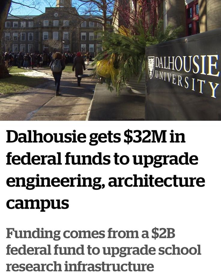 32 MILLION $$$ !  From @cbcns : Dalhousie gets $32M in federal funds to upgrade engineering architecture campus Funding comes from a $2B federal fund to upgrade school research infrastructure . Dalhousie University said it plans to follow the panel's recommendations.  Dalhousie University said the funding to upgrade its engineering and architecture campus will come from the federal government private donors students and industry. (CBC) . The federal government will give Dalhousie University…