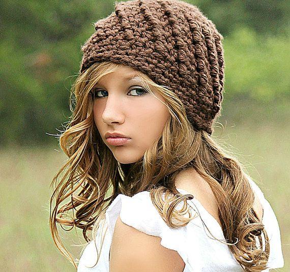 Brown Beanie Hat Beanies Chunky Hat for Women Teen Girl Fall Fashion Winter Fashion.