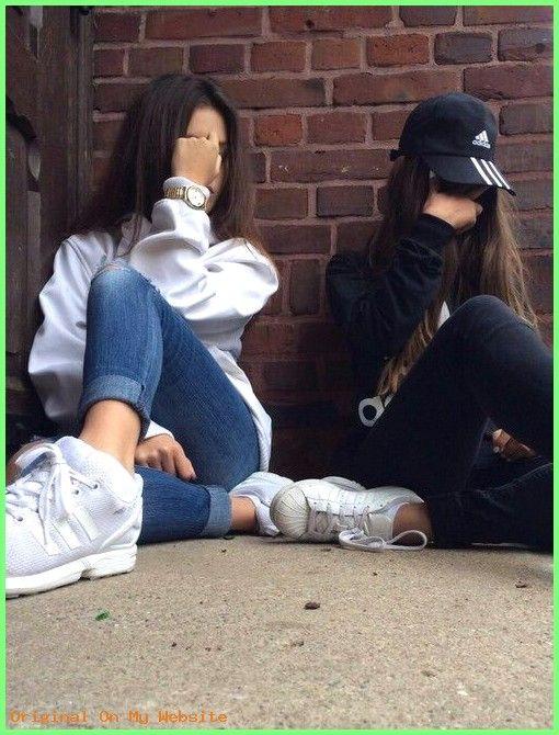 Tumblr Bilder Hintergrund – adidas, best friends, besties, black, friends  #hintergrundbilder…
