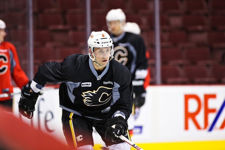 Cory Sarich runs through a drill on Feb. 9, 2013. Photo by Clint Trahan.