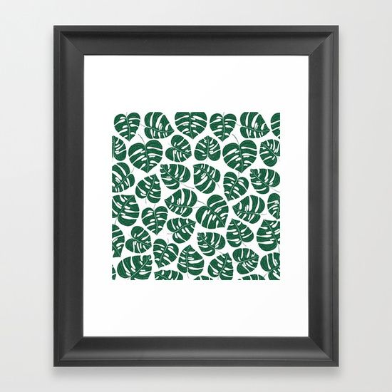 Choose from a variety of frame styles, colors and sizes to complement your favorite Society6 gallery, or fine art print - made ready to hang. Fine-crafted from solid woods, premium shatterproof acrylic protects the face of the art print, while an acid free dust cover on the back provides a custom finish. All framed art prints include wall hanging hardware. #monstera #plants #botanic #botanical #tropical #pattern #plantae #philodendron