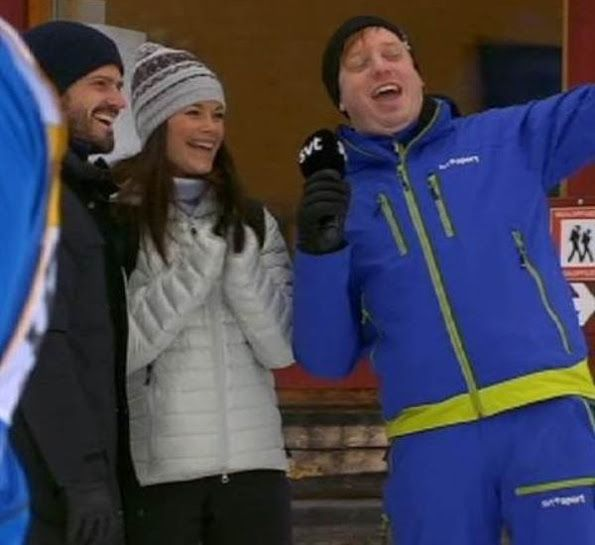 Prince Carl Philip and Princess Sofia of Sweden visited the Vasaloppet's Winter Week 2017 ski race held at the Vasaloppet Arena in Sälen, Dalarna, Sweden