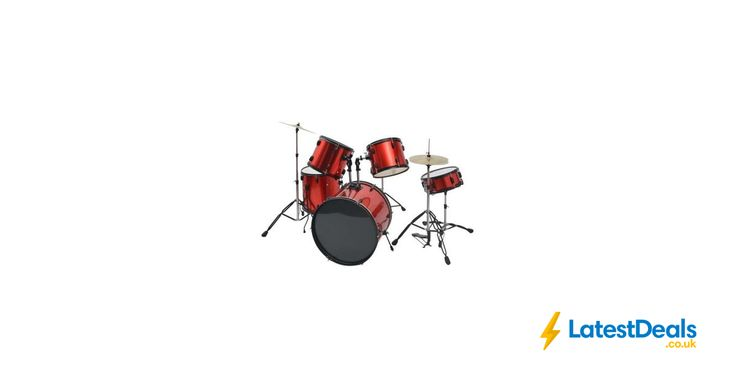 vidaXL Complete Drum Kit Powder-Coated Steel Full Size Free Delivery, £241.99