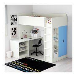 IKEA – STUVA, Hochbett mit 2 Etagen / 2 Türen, weiß / blau, Sie können zusammenbauen