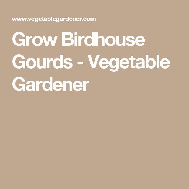 Grow Birdhouse Gourds - Vegetable Gardener