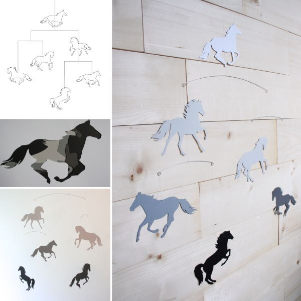 25 unique horse nursery ideas on pinterest large art prints horse mobile nursery decor baby mobile grey ombre office negle Choice Image