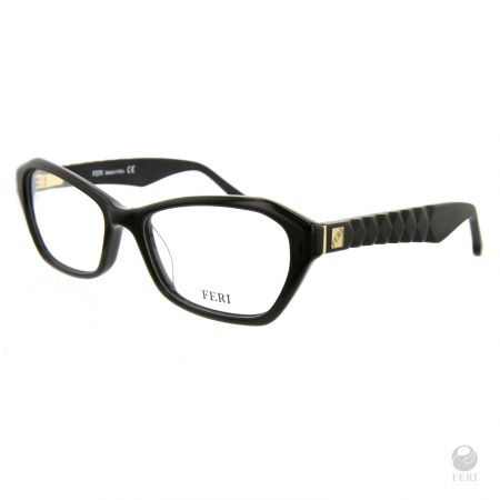 FERI - Helisinki Black - Optical - Black acetate optical glasses - Arms made with matte plastic for a luxury look - FERI logo on both outer arms - Rectangular frame shape - Comes with non-prescription plano Lens - Incredibly unique styling will turn heads www.gwtcorp.com/ghem or email fashionforghem.com for big discount