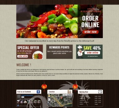 11 best restaurant website templates images on pinterest