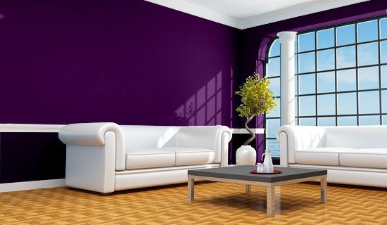 Casa y color visualizador de colores sal n en violetas for Pintura azul para interiores