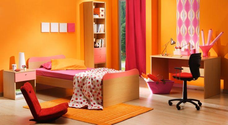 dormitorio juvenil decoracion colores calidos
