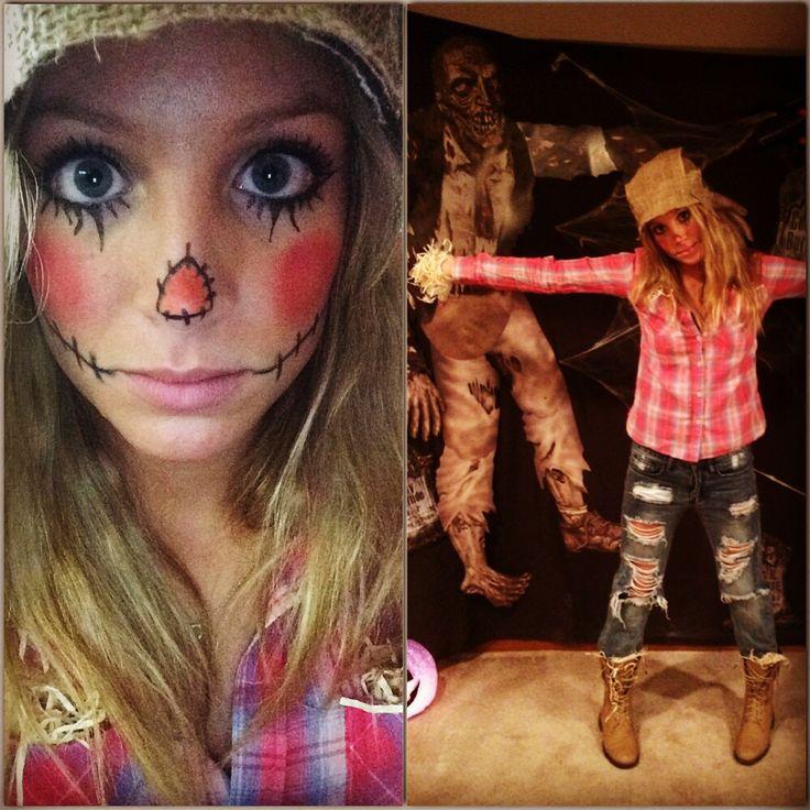 93 best Halloween images on Pinterest Cheshire cat makeup - scarecrow halloween costume ideas