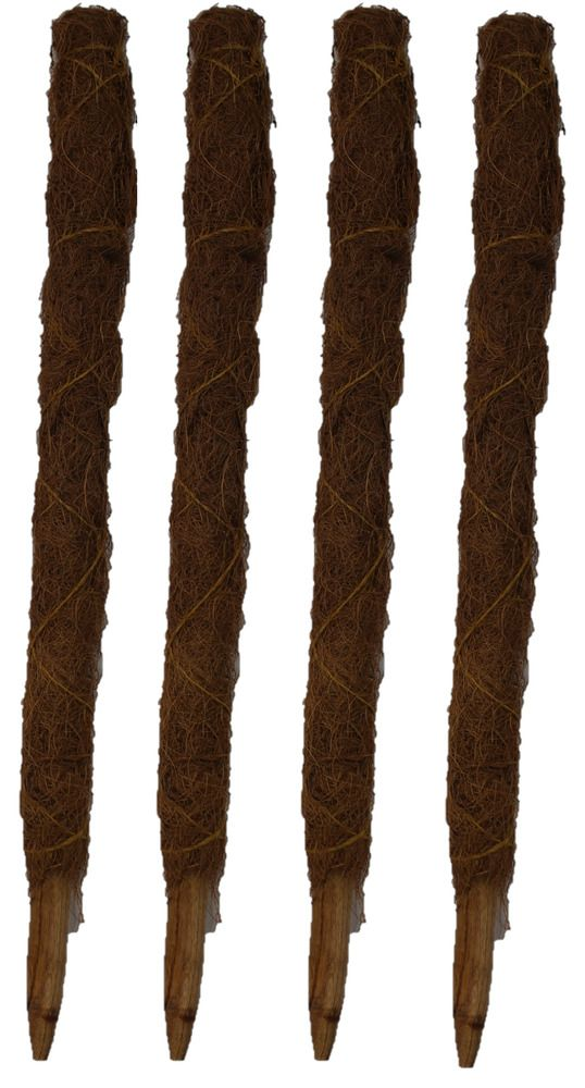 Tall Coir Moss Stick Coco Pole Coconut Fibre Plant Support 60cm Bulk